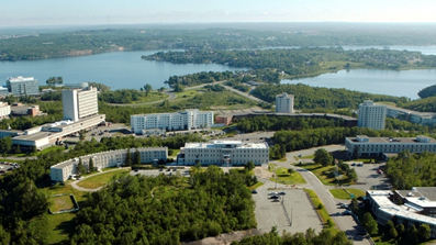 aerial view of Laurentian campus