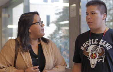 Indigenous student and teacher
